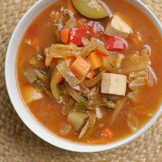 Nine Vegetable Hot and Sour Soup + Weekly Menu