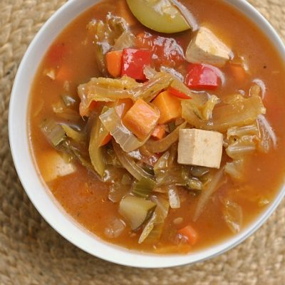 Nine Vegetable Hot and Sour Soup + Weekly Menu