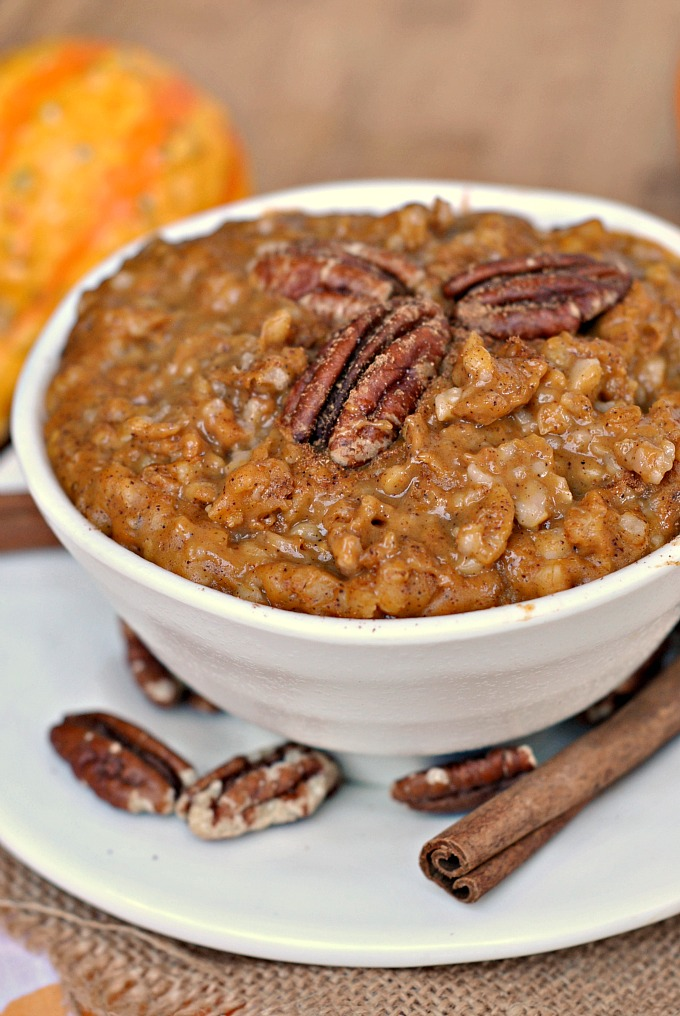 Slow Cooker Pumpkin Pie Steel Cut Oats 1