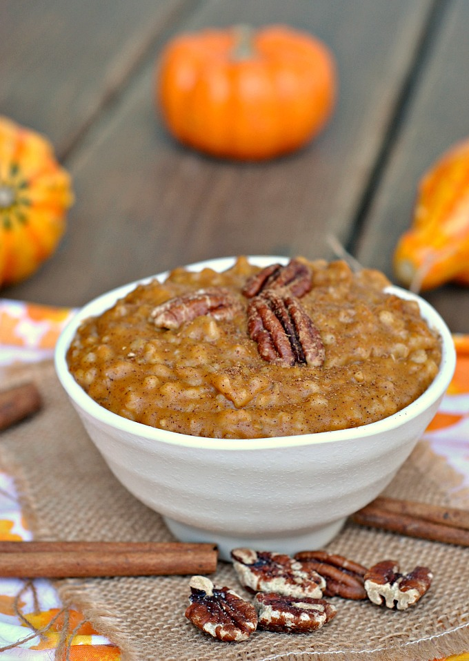 Slow Cooker Pumpkin Pie Steel Cut Oats 3