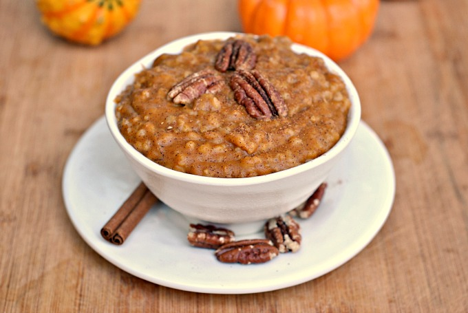 Slow Cooker Pumpkin Pie Steel Cut Oats 4