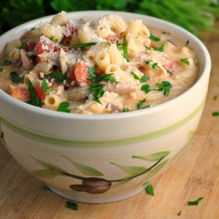 Creamy Basil Parmesan Italian Soup