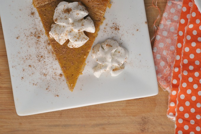 Crustless Pumpkin Pie 3