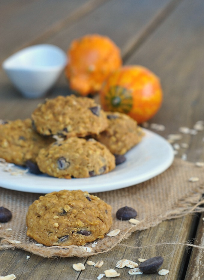 Pumpkin-Oat Chocolate Chip Cookies 1