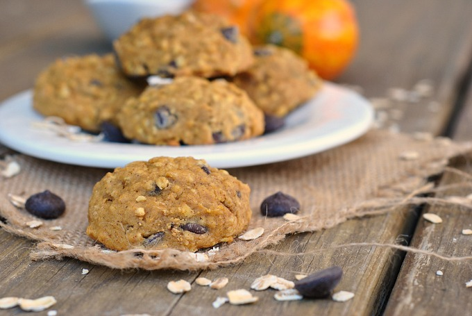 Pumpkin-Oat Chocolate Chip Cookies 2