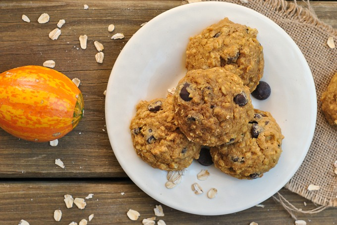 Pumpkin-Oat Chocolate Chip Cookies 3