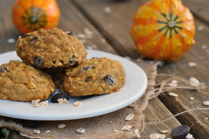 Pumpkin-Oat Chocolate Chip Cookies 4