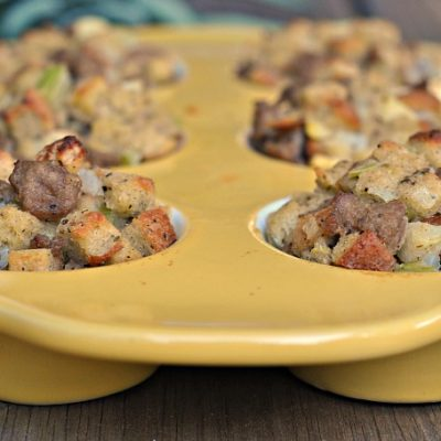 Sausage, Apple, and Sage Stuffing Muffins