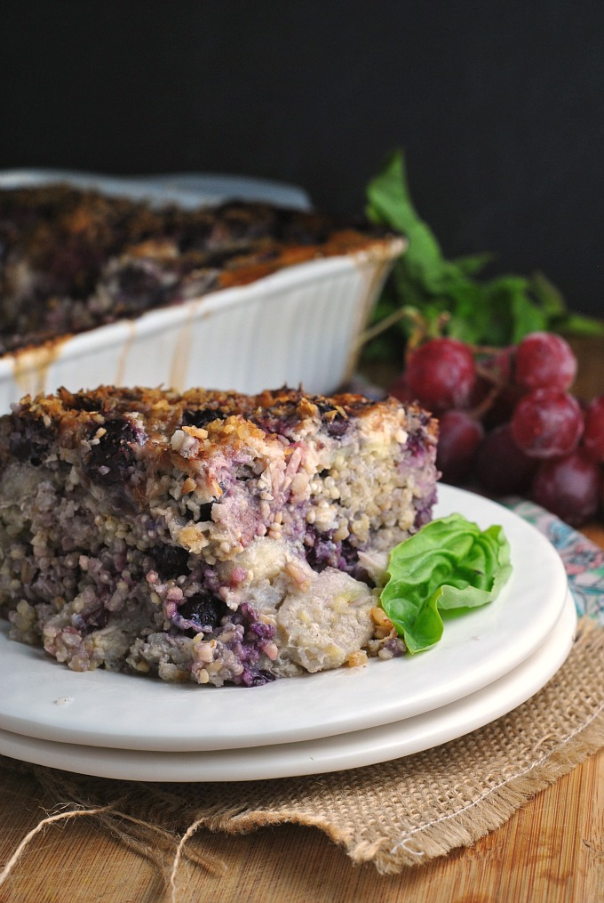 Berry Banana Quinoa and Steel Cut Oats Breakfast Bake 1