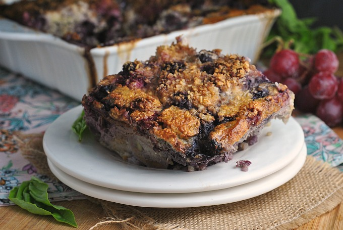 Berry Banana Quinoa and Steel Cut Oats Breakfast Bake 4