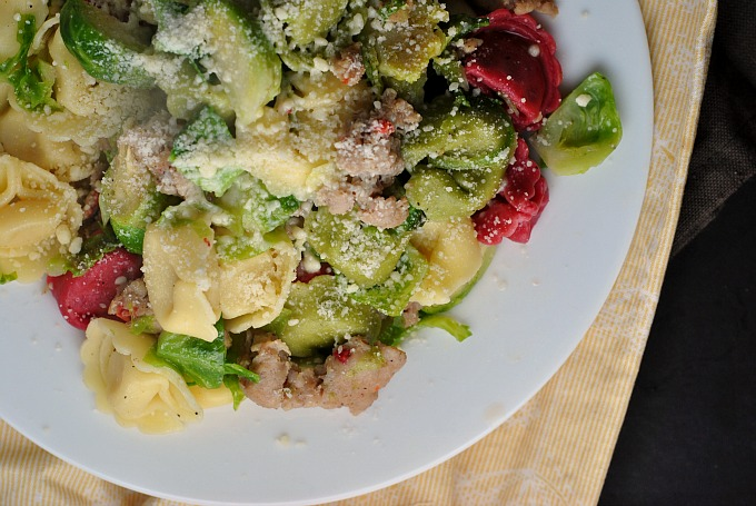 Easy Tortellini with Sausage and Brussels Sprouts 2