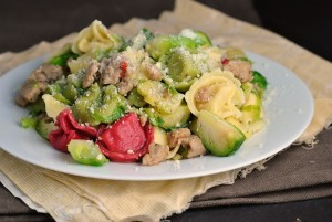 Easy Tortellini with Sausage and Brussels Sprouts