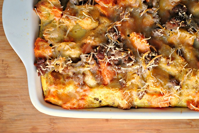 Sweet Potato and Sausage Strata 2