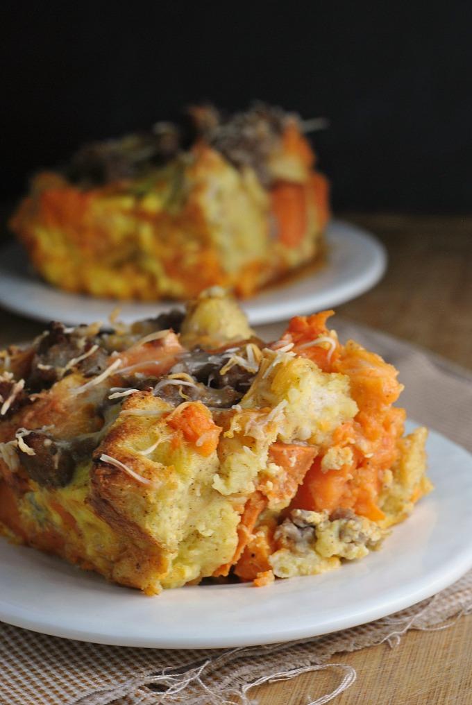 Sweet Potato and Sausage Strata 4