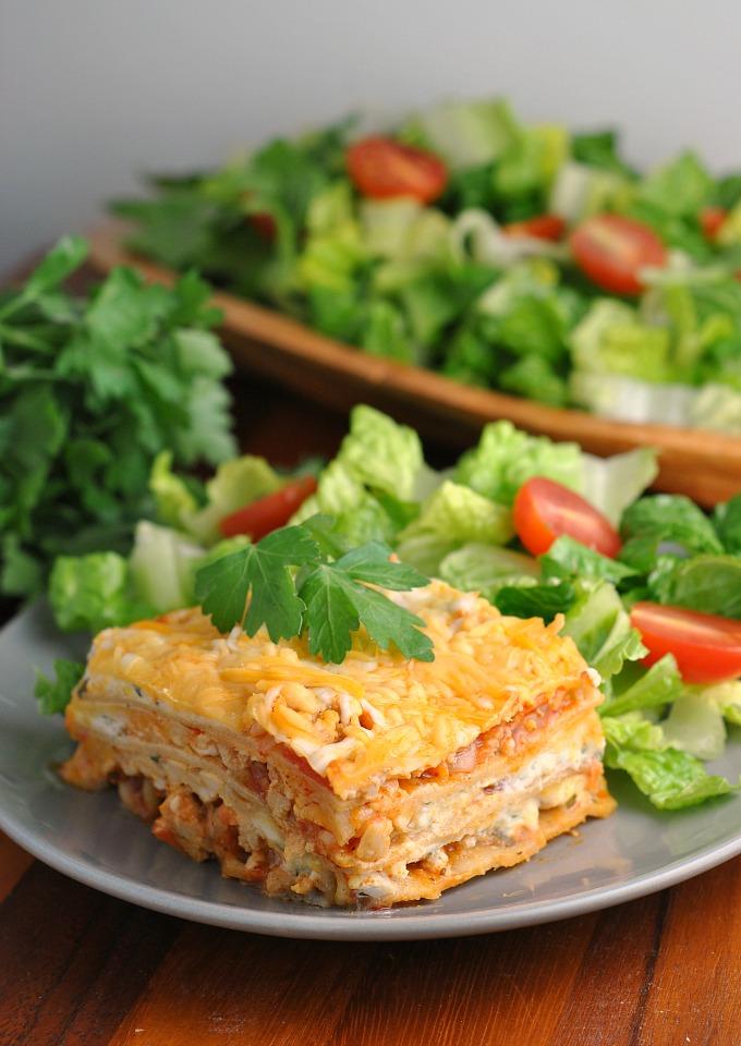 Buffalo Chicken Lasagna 4
