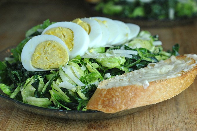 Kale and Brussels Sprout Caesar Salad 2