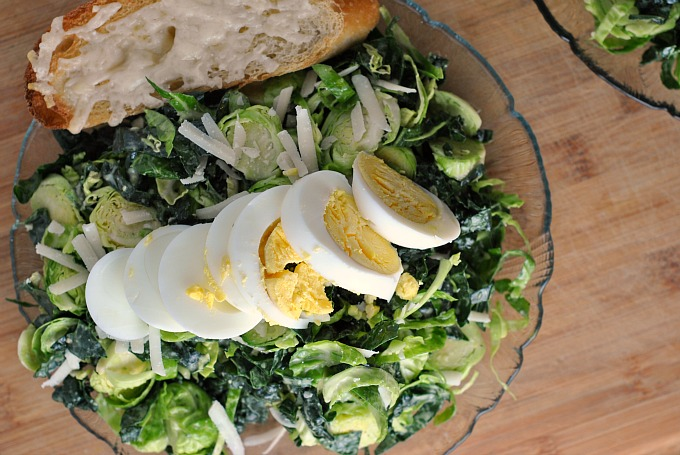 Kale and Brussels Sprout Caesar Salad 3
