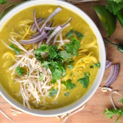 Spicy Thai Curry Noodle Soup + Weekly Menu