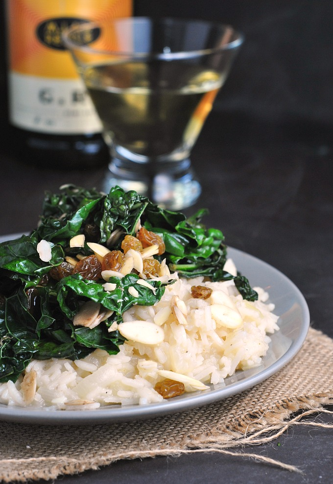 Sweet Onion Risotto with Sauteed Kale 1