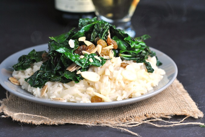 Sweet Onion Risotto with Sauteed Kale 4