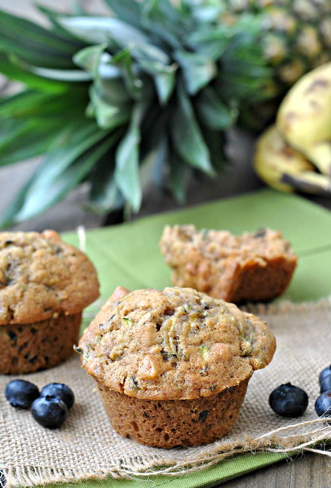 Zucchini and Walnut Muffins 1