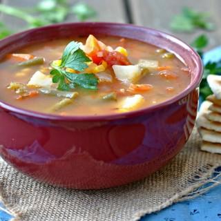 Classic Vegetable Soup + Weekly Menu