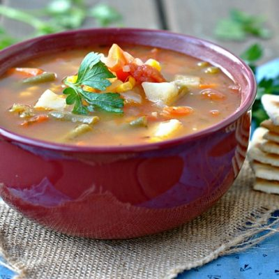 Classic Vegetable Soup + Weekly Menu