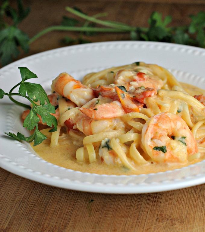 Garlicky Linguine and Shrimp 3