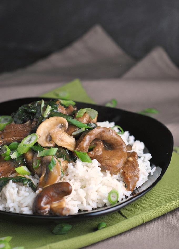 Ginger Beef, Mushroom, and Kale Stir-Fry 1