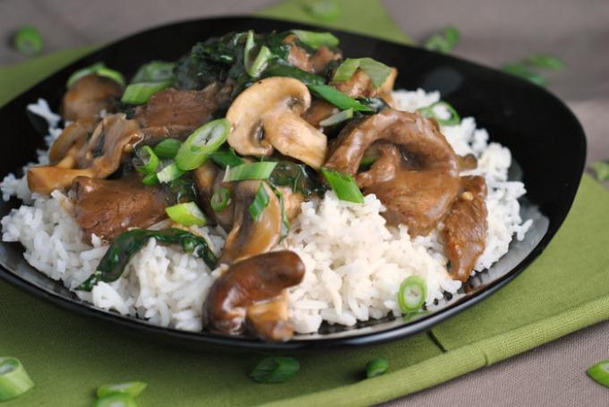 Ginger Beef, Mushroom, and Kale Stir-Fry 2
