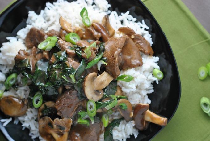 Ginger Beef, Mushroom, and Kale Stir-Fry 3
