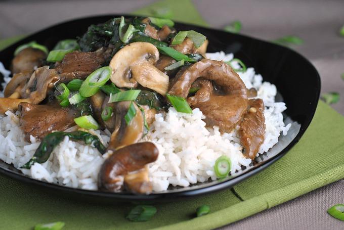 Ginger Beef, Mushroom, and Kale Stir-Fry 4