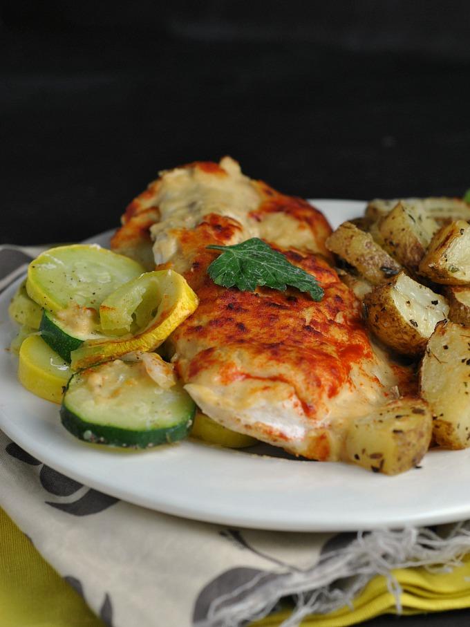 Hummus-Crusted Chicken 1