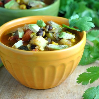 Zucchini and Corn Chili + Weekly Menu