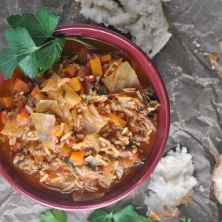 Cabbage Roll Soup + Weekly Menu