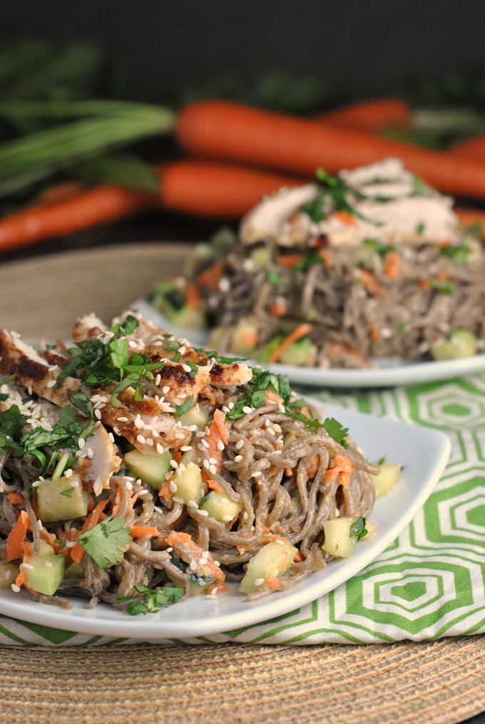 Chopped Chicken Sesame Noodle Bowls 1