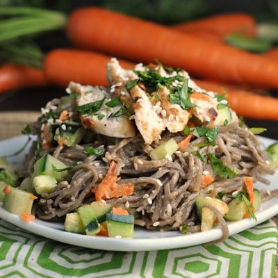 Chopped Chicken Sesame Noodle Bowls + Weekly Menu