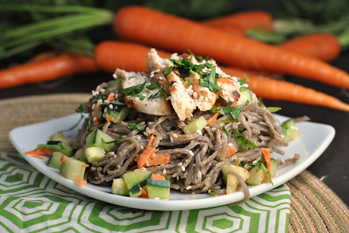Chopped Chicken Sesame Noodle Bowls 12