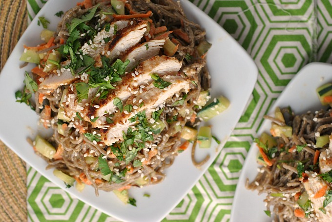 Chopped Chicken Sesame Noodle Bowls 2