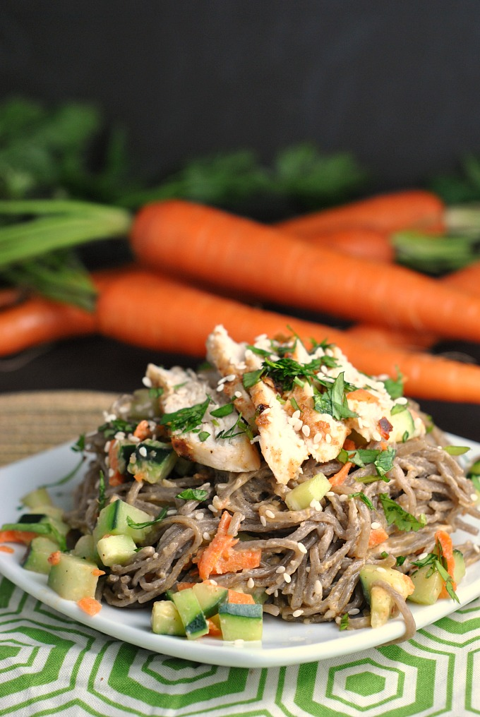 Chopped Chicken Sesame Noodle Bowls 4