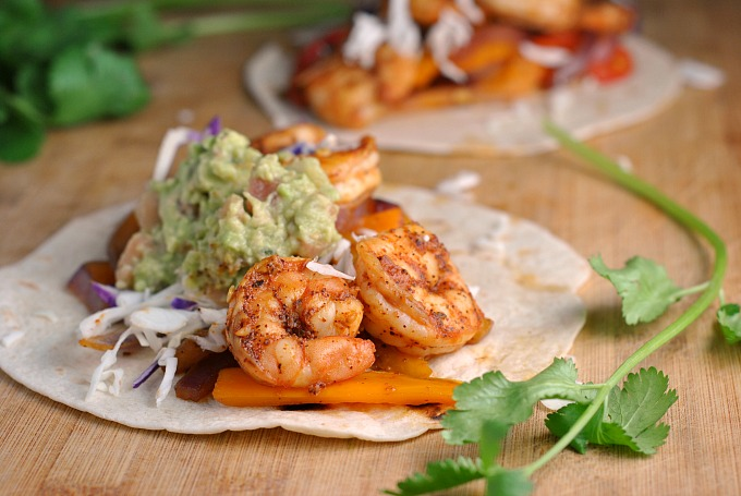 Easy Shrimp Fajitas 4