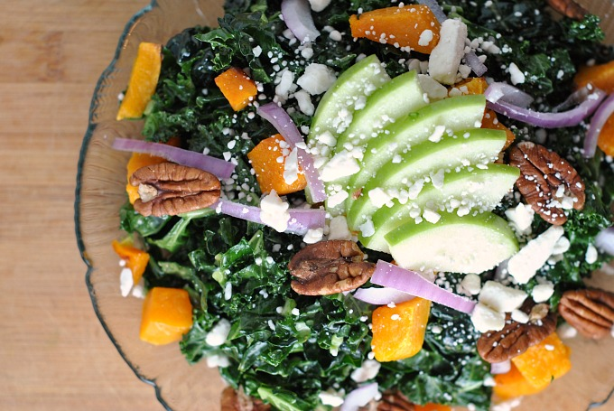 Kale, Butternut Squash, and Apple Salad 2