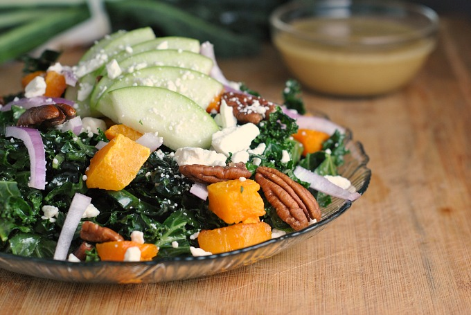 Kale, Butternut Squash, and Apple Salad 3