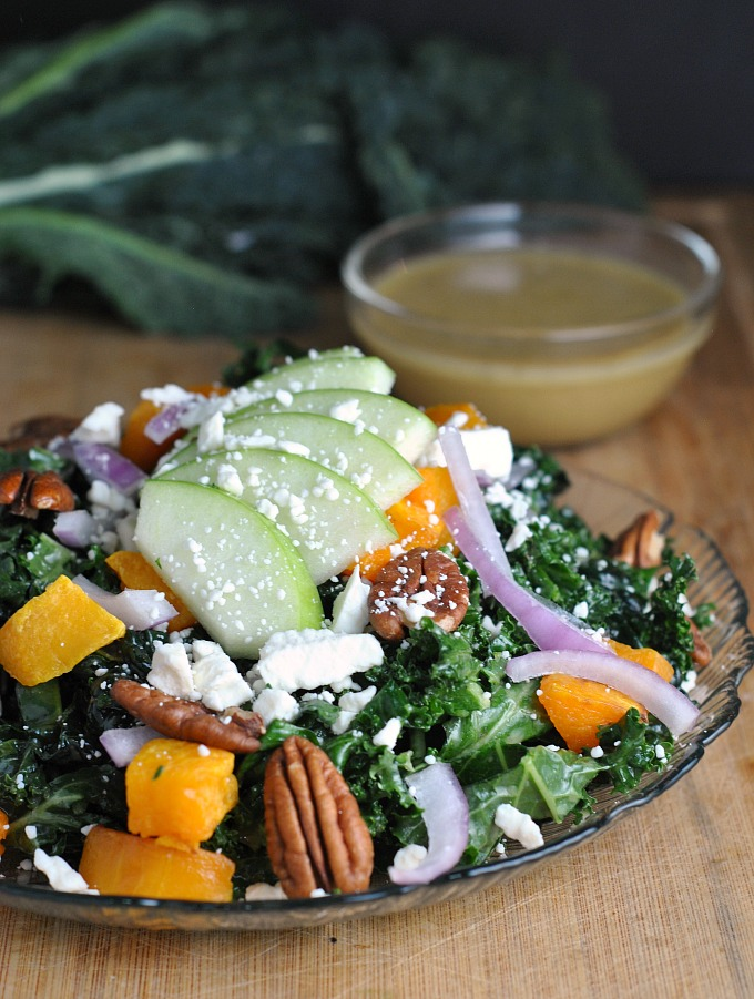 Kale, Butternut Squash, and Apple Salad 4
