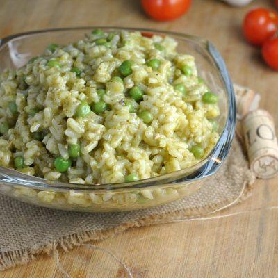 Pea and Pesto Risotto + Weekly Menu