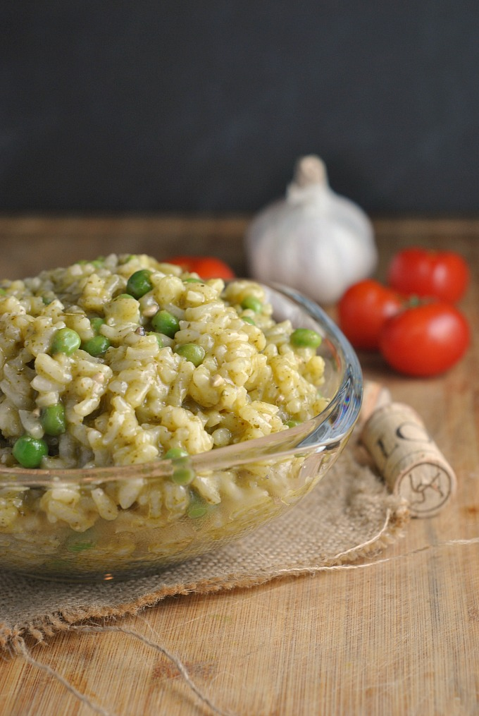 Pea and Pesto Risotto 4