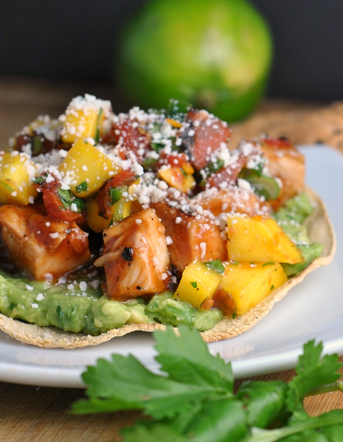 BBQ Margarita Chicken Tostadas 1