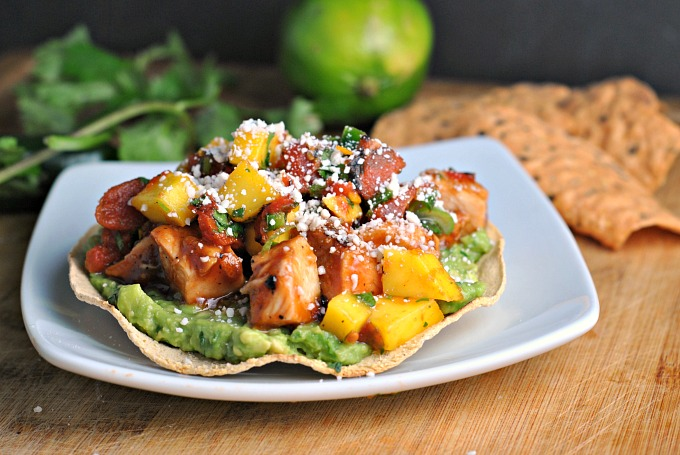 BBQ Margarita Chicken Tostadas 4