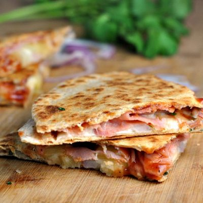 Hawaiian Pizza Quesadillas