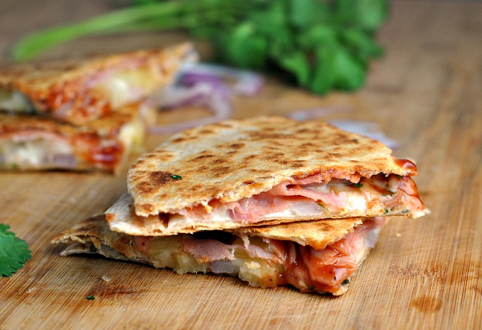 Hawaiian Pizza Quesadillas 2